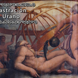 The Mutilation of Uranus by Saturn fresco by Giorgio Vasari and Cristofano Gherardi, c. 1560